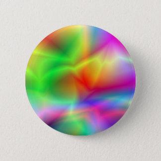 Random, pretty, colourful splurge! 6 cm round badge