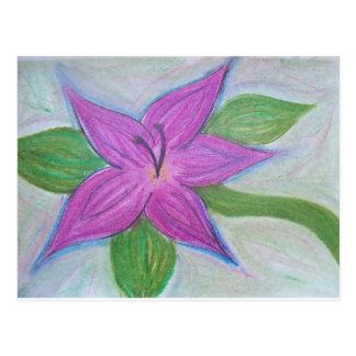 random purple flower postcard