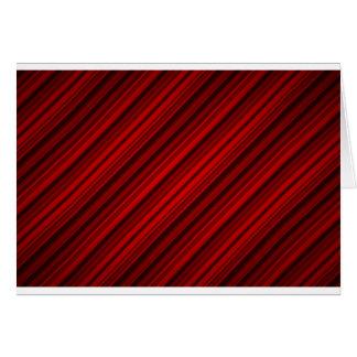 Random Red Diagonal Stripes Pattern Greeting Card