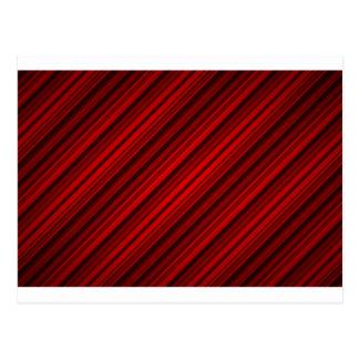 Random Red Diagonal Stripes Pattern Postcard