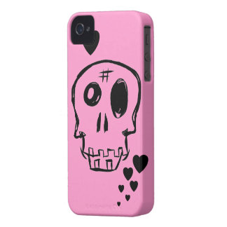 Random Skull Black Heart Blackberry Case
