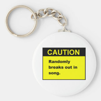 Random Song Basic Round Button Key Ring