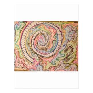 Random Spiral Postcard