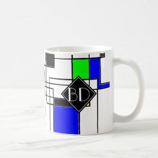 Random Squares Homage To Mondrian Coffee Mug