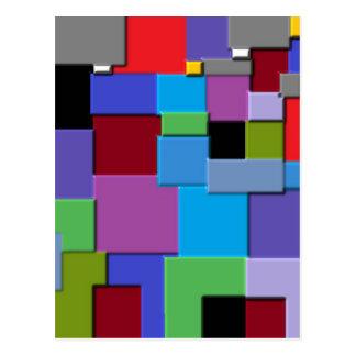 Random Squares Postcard