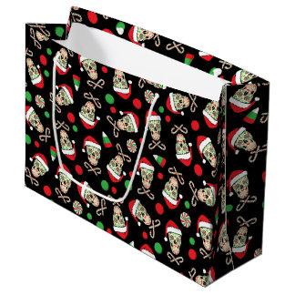 Random Sugar Skull Santa Large Gift Bag