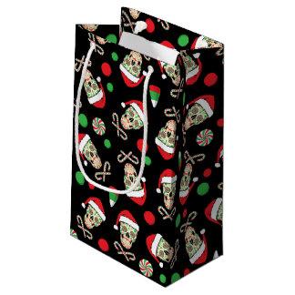 Random Sugar Skull Santa Small Gift Bag