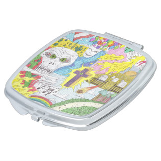 Random Thoughts Compact Mirror
