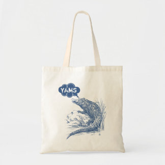 Random thoughts crocodile alligator funny animal tote bag