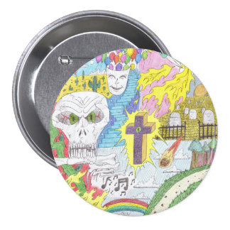 Random Thoughts Large Button/Pin 7.5 Cm Round Badge