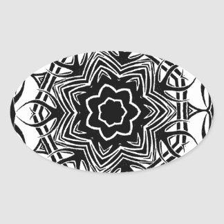 Random Tribal 2 Oval Sticker