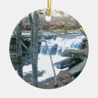 Random Waterfall Christmas Ornament