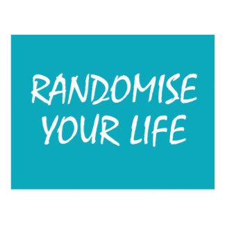 Randomise Your Life Postcard
