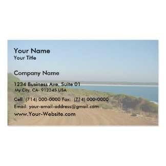Randomly Intermixed Hard And Soft Strata, Circular Business Cards