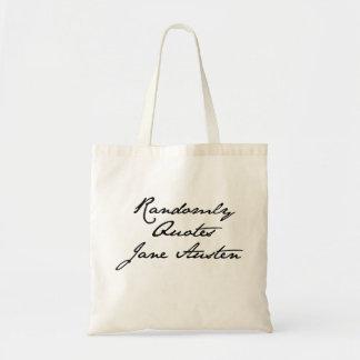 Randomly Quotes Jane Austen Tote Bag