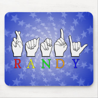 RANDY ASL FINGERSPELLED NAME SIGN MOUSE PAD