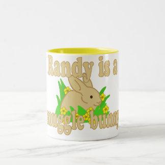 Randy is a Snuggle Bunny Two-Tone Coffee Mug