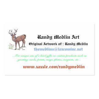 Randy Medlin Art...Business Card Pack Of Standard Business Cards