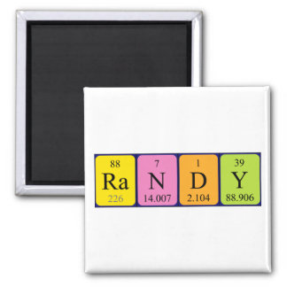 Randy periodic table name magnet