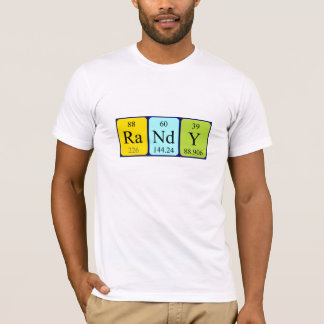 Randy periodic table name shirt