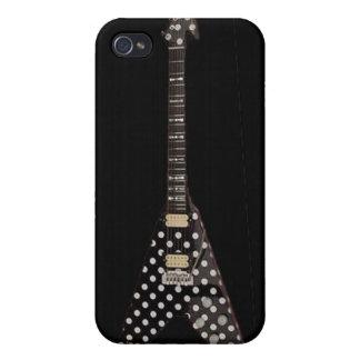 Randy Rhoads Polka Dot Flying V Guitar Cases For iPhone 4