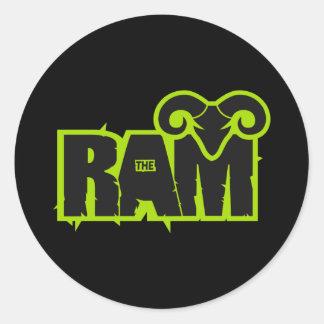 """Randy """"The Ram"""" Round Sticker"""