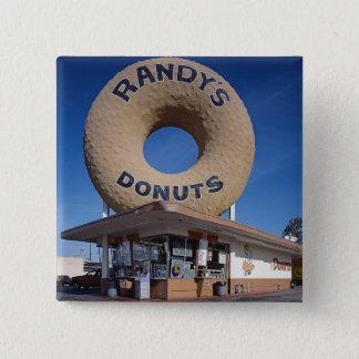Randy's Donuts California Architecture 15 Cm Square Badge