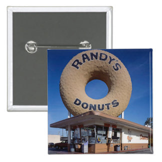 Randy's Donuts California Architecture 15 Cm Square Badge
