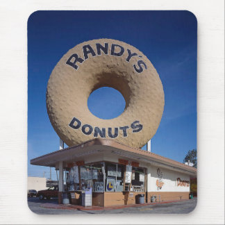 Randy's Donuts California Architecture Mouse Pad