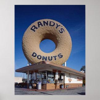Randy's Donuts California Mid Century Modern Poster