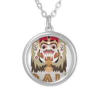 Rangda Bali Round Pendant Necklace