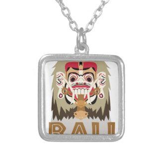 Rangda Bali Square Pendant Necklace
