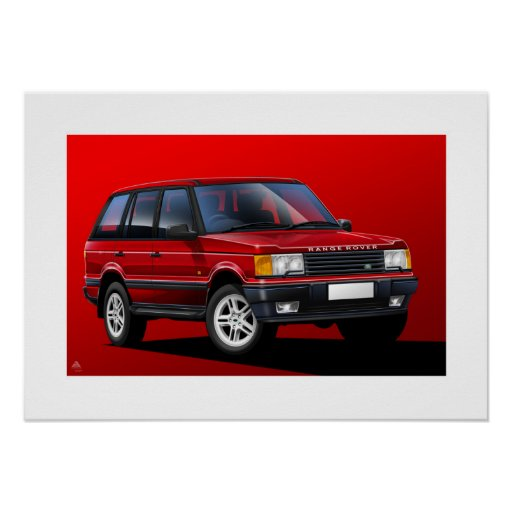 Range Rover P38 Poster Illustration