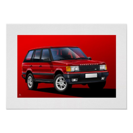 Range Rover P38 Poster Illustration
