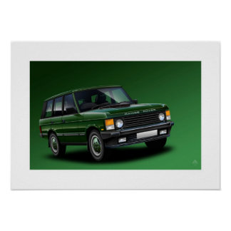 Range Rover Vogue Poster Illustration