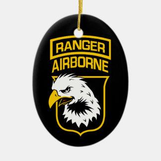 Ranger Airborne Eagle Patch Christmas Ornament
