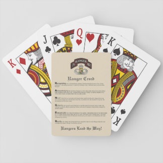 Ranger Creed Playing Cards