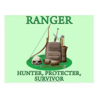 Ranger Hunter Protector Survivor Post Cards