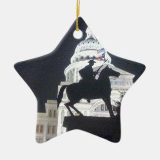Ranger in front of TX Capitol.jpg Christmas Ornament