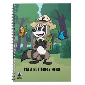 Ranger Rick | Butterfly Hero - Butterfly Sign Spiral Notebook