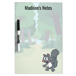 Ranger Rick | Gray Squirrel Waving Dry Erase Board