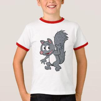 Ranger Rick   Gray Squirrel Waving T-Shirt