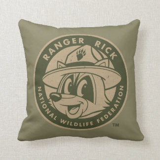 Ranger Rick | Ranger Rick Khaki Logo Cushion