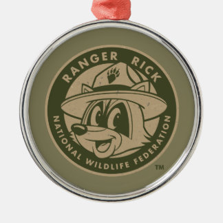 Ranger Rick | Ranger Rick Khaki Logo Silver-Colored Round Decoration