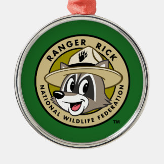 Ranger Rick | Ranger Rick Logo Silver-Colored Round Decoration