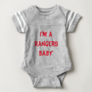 Rangers Baby One Piece  Grey Baby Bodysuit