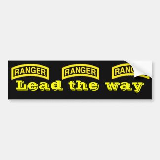 Rangers lead the way bumper stickers