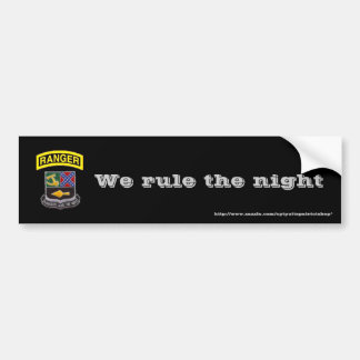 Rangers, We rule the night Bumper Sticker