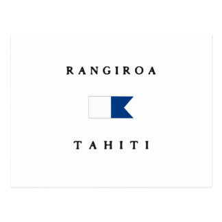 Rangiroa Tahiti Alpha Dive Flag Post Card