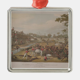 Rangoon: The Storming of one of the Principal Stoc Christmas Ornament